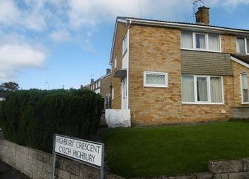 Thumbnail 3 bed semi-detached house for sale in Willesden Road, Cefn Glas, Bridgend