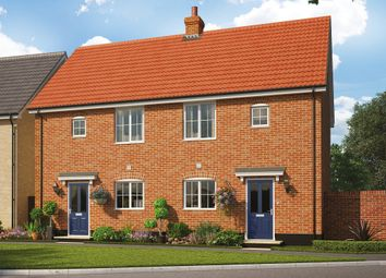 Thumbnail 1 bed semi-detached house for sale in The Burdock, Reach Road, Burwell, Cambridgeshire