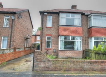 Thumbnail 3 bed semi-detached house for sale in Rennington Place, North Fenham, Newcastle Upon Tyne