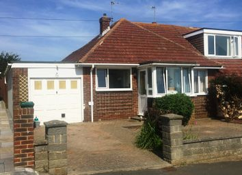 Thumbnail 3 bedroom semi-detached bungalow to rent in Grassmere Avenue, Telscombe Cliffs