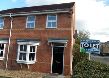 Thumbnail 3 bed semi-detached house to rent in Cosway Place, Grange Farm, Milton Keynes