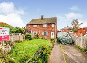 Thumbnail 2 bed semi-detached house for sale in Pasture Avenue, Burringham, Scunthorpe