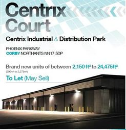 Thumbnail Commercial property for sale in Unit 5&6 Centrix Court, Phoenix Parkway, Corby, Northants