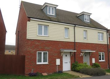 Thumbnail 3 bed town house for sale in Albert Crescent, Hampton Vale, Peterborough