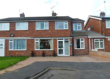 Thumbnail 4 bed semi-detached house for sale in Kensington Close, Oadby, Leicester