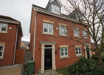 Thumbnail 3 bed town house to rent in Shipman Road, Braunstone Town, Leicester