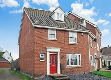 Thumbnail 4 bedroom town house for sale in Wild Cherry Close, Watton, Thetford, Norfolk