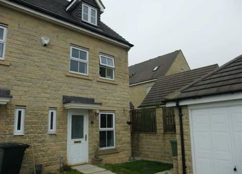 Thumbnail 3 bed town house to rent in Naden Close, Clayton Heights, Bradford