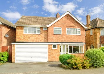 Thumbnail 4 bed detached house for sale in Half Moon Crescent, Oadby, Leicester