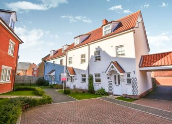 Thumbnail 3 bed end terrace house for sale in Petunia Court, Wymondham