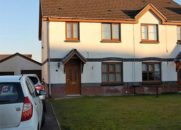 Thumbnail 3 bed semi-detached house for sale in Glyncoed, Tycroes, Ammanford