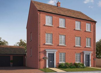 "Thumbnail 4 bedroom semi-detached house for sale in ""The Pilsgate"" at Central Avenue, Brampton, Huntingdon"