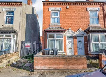 Thumbnail 3 bed end terrace house for sale in Percy Road, Sparkhill, Birmingham, West Midlands