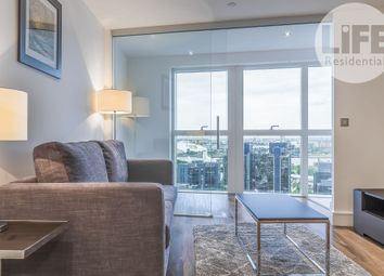 Thumbnail 1 bedroom flat to rent in Talisman Tower, 6 Lincoln Plaza, Canary Wharf, London