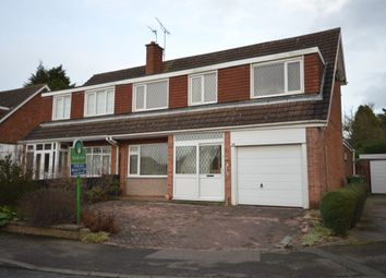 Thumbnail 3 bed semi-detached house for sale in Nuthall Grove, Glen Parva, Leicester