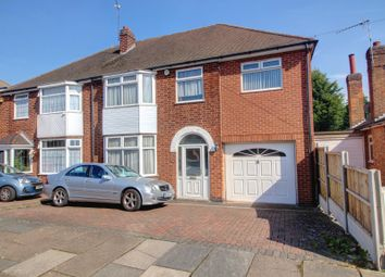 Thumbnail 5 bed semi-detached house for sale in Northdene Road, Leicester