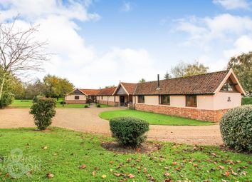 Thumbnail 6 bed barn conversion for sale in The Green, Morningthorpe, Norwich