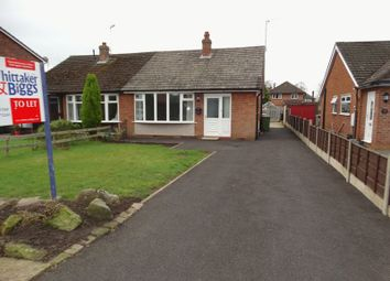 Thumbnail 2 bedroom semi-detached bungalow to rent in Brooklands Road, Congleton, Cheshire