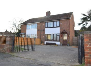 Thumbnail 3 bedroom semi-detached house for sale in St. Marys Crescent, Stanwell, Staines