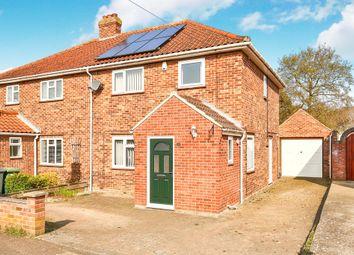Thumbnail 3 bedroom semi-detached house for sale in Drayton Wood Road, Hellesdon, Norwich