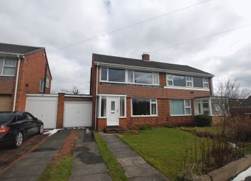 Thumbnail 3 bed semi-detached house for sale in Hayes Walk, Wideopen, Newcastle Upon Tyne
