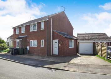 Thumbnail 3 bed semi-detached house for sale in Hadley Crescent, Heacham, King's Lynn