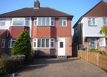 Thumbnail 3 bed semi-detached house to rent in Pembury Avenue, Worcester Park