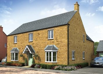 "Thumbnail 4 bedroom detached house for sale in ""The Longleet"" at Towcester Road, Old Stratford, Milton Keynes"