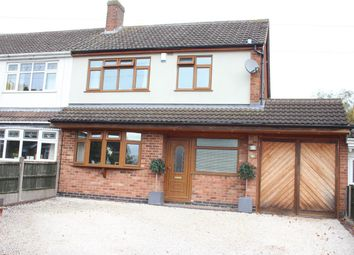 Thumbnail 3 bed semi-detached house for sale in Arnolds Crescent, Newbold Verdon, Leicester