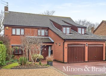 Thumbnail 5 bed detached house for sale in Woodgate, Cringleford, Norwich