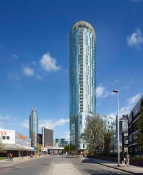 Thumbnail 2 bed flat for sale in Sky Gardens, London