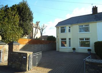 Thumbnail 3 bed semi-detached house for sale in Ewenny Road, Bridgend