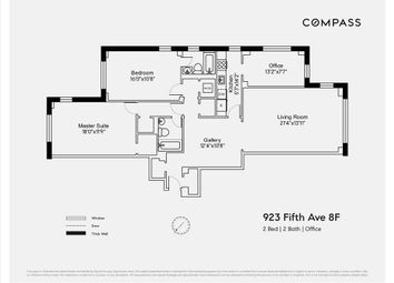 Thumbnail 2 bed property for sale in 923 Fifth Avenue, New York, New York State, United States Of America