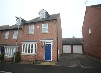 Thumbnail 3 bed semi-detached house to rent in Columbus Lane, Earl Shilton, Leicester