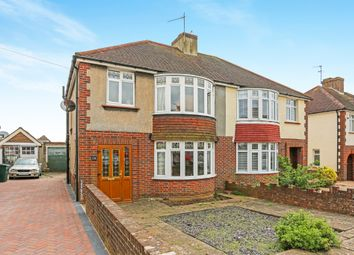Thumbnail 3 bed semi-detached house for sale in Sunninghill Avenue, Hove