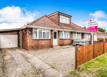 Thumbnail 4 bedroom bungalow for sale in Coronation Road, Hellesdon, Norwich