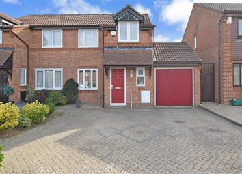 Thumbnail 3 bed semi-detached house for sale in Willowmead, Leybourne, Kent