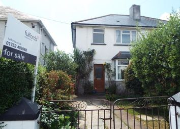 Thumbnail 3 bedroom semi-detached house for sale in Plymstock, Devon