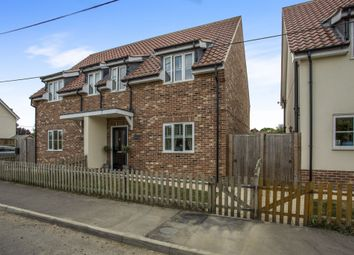 Thumbnail 3 bed semi-detached house for sale in Greyhound Lane, Banham, Norwich