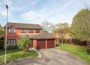 Thumbnail 4 bedroom detached house for sale in Friesian Close, Fleet