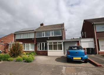 Thumbnail 3 bedroom semi-detached house for sale in Cranwell Drive, Wideopen, Newcastle Upon Tyne