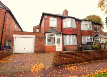 Thumbnail 4 bedroom semi-detached house for sale in Claremont Avenue, Newcastle Upon Tyne