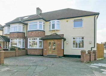 Thumbnail 4 bed semi-detached house for sale in Walsingham Gardens, Stoneleigh, Surrey