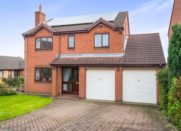 Thumbnail 4 bed detached house for sale in Beeley Close, Creswell, Worksop