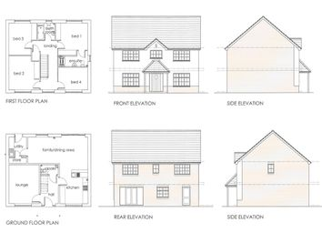 Thumbnail 4 bed detached house for sale in Leckwith Drive, Bridgend
