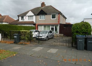 Thumbnail 3 bed semi-detached house to rent in Bromford Lane, Hodge Hill, Birmingham