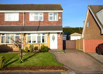 Thumbnail 3 bed semi-detached house for sale in Houseman Drive, Weston Coyney, Stoke-On-Trent