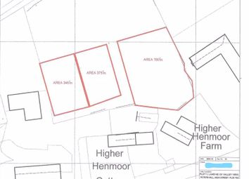Thumbnail Land for sale in Building Plots x 3, Peters Hill, St. Austell