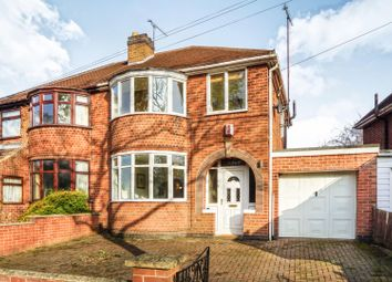 Thumbnail 3 bed semi-detached house for sale in Garland Crescent, Leicester