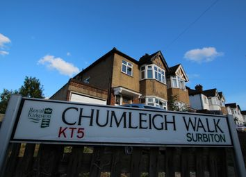 Thumbnail 4 bed semi-detached house to rent in Chumleigh Walk, Surbiton